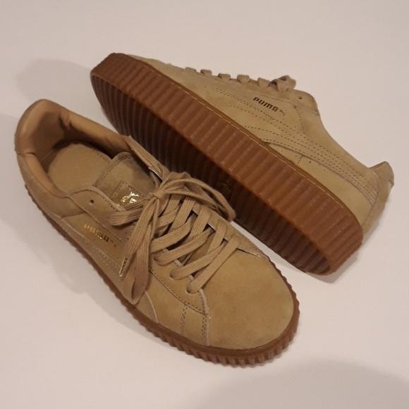 6daafd2a47ce NEW Puma tan suede platform sneakers
